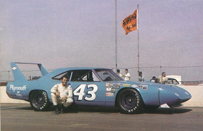Richard Petty and his Superbird