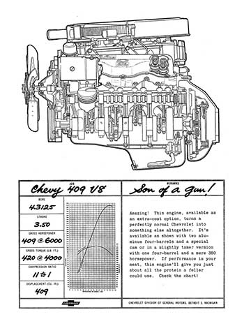 1962 Chevy 409 Ad