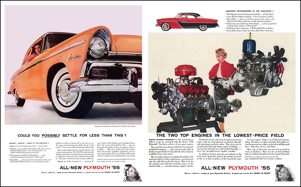 1955 Plymouths and Engines
