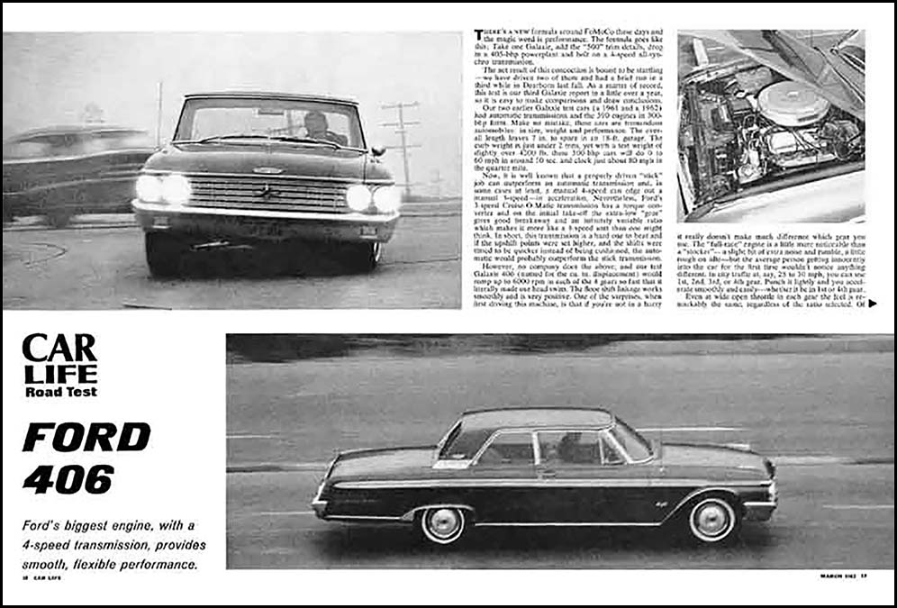 1962 Ford 406 Test