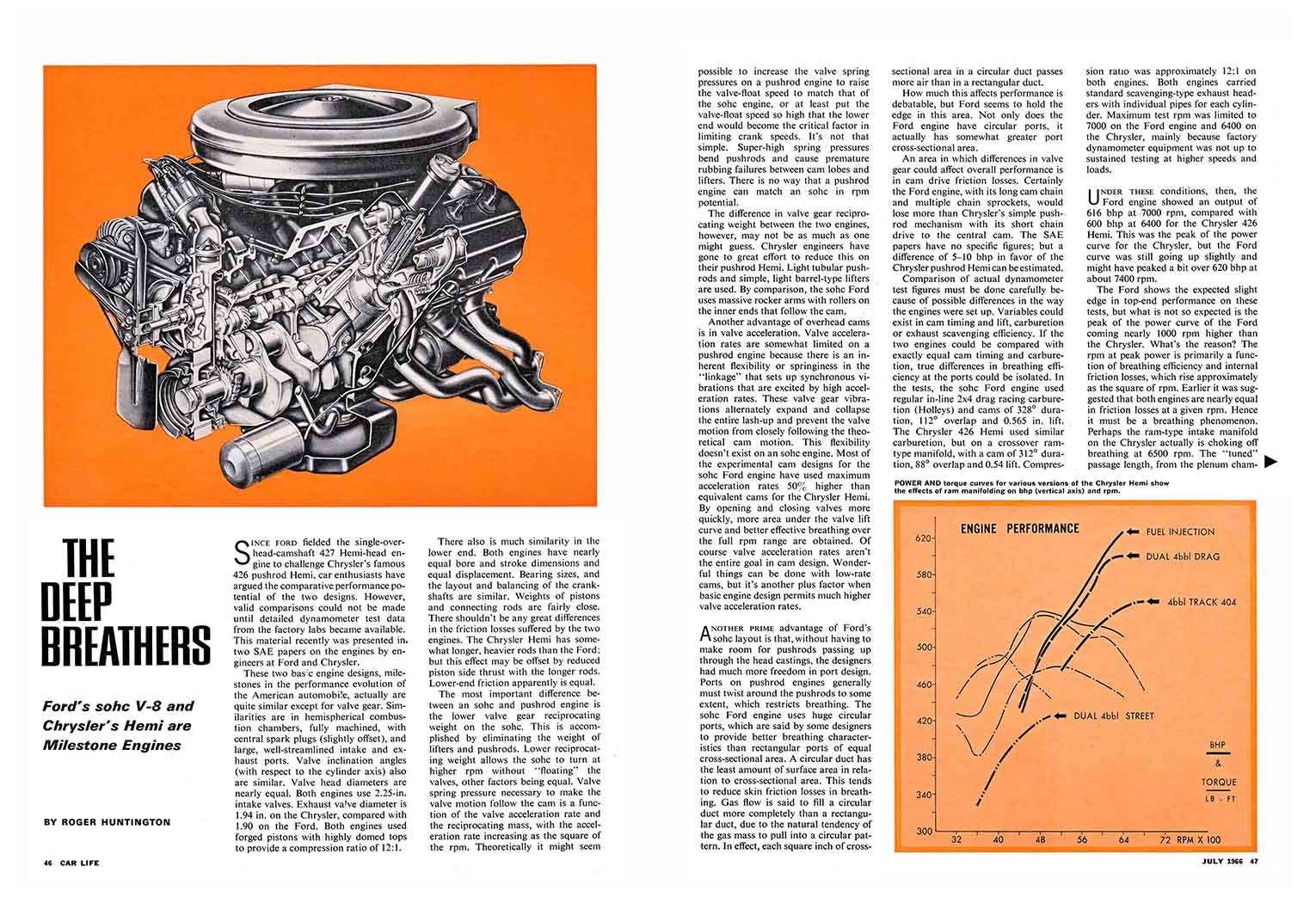 1966 Comparison of the Ford SOHC 427 and 426 Hemi
