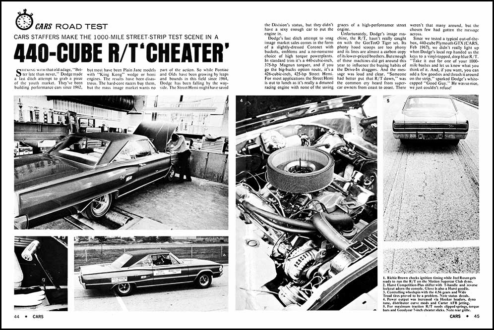 1967 Dodge RT Test