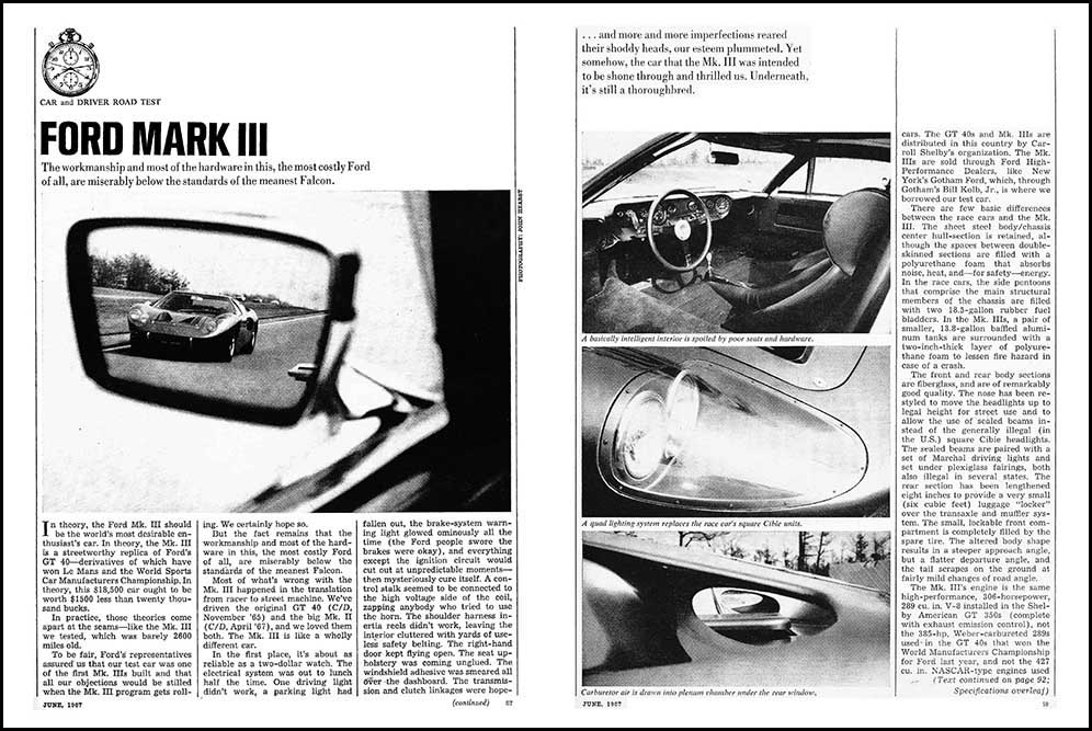1967 Ford GT 40 Test