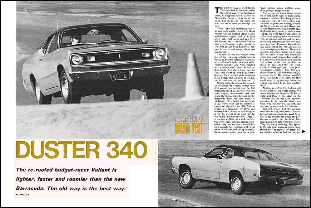 1970 Duster 340 Test