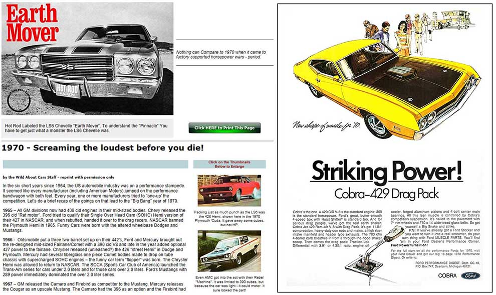 1970 Performance Car Chronicles