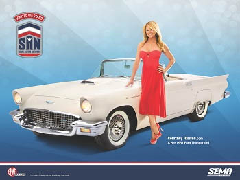 Courtney and her T-Bird