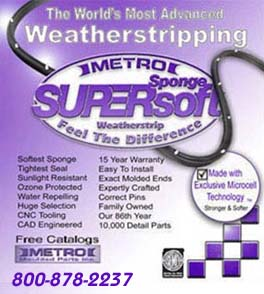 Metro Super Soft Weatherstripping