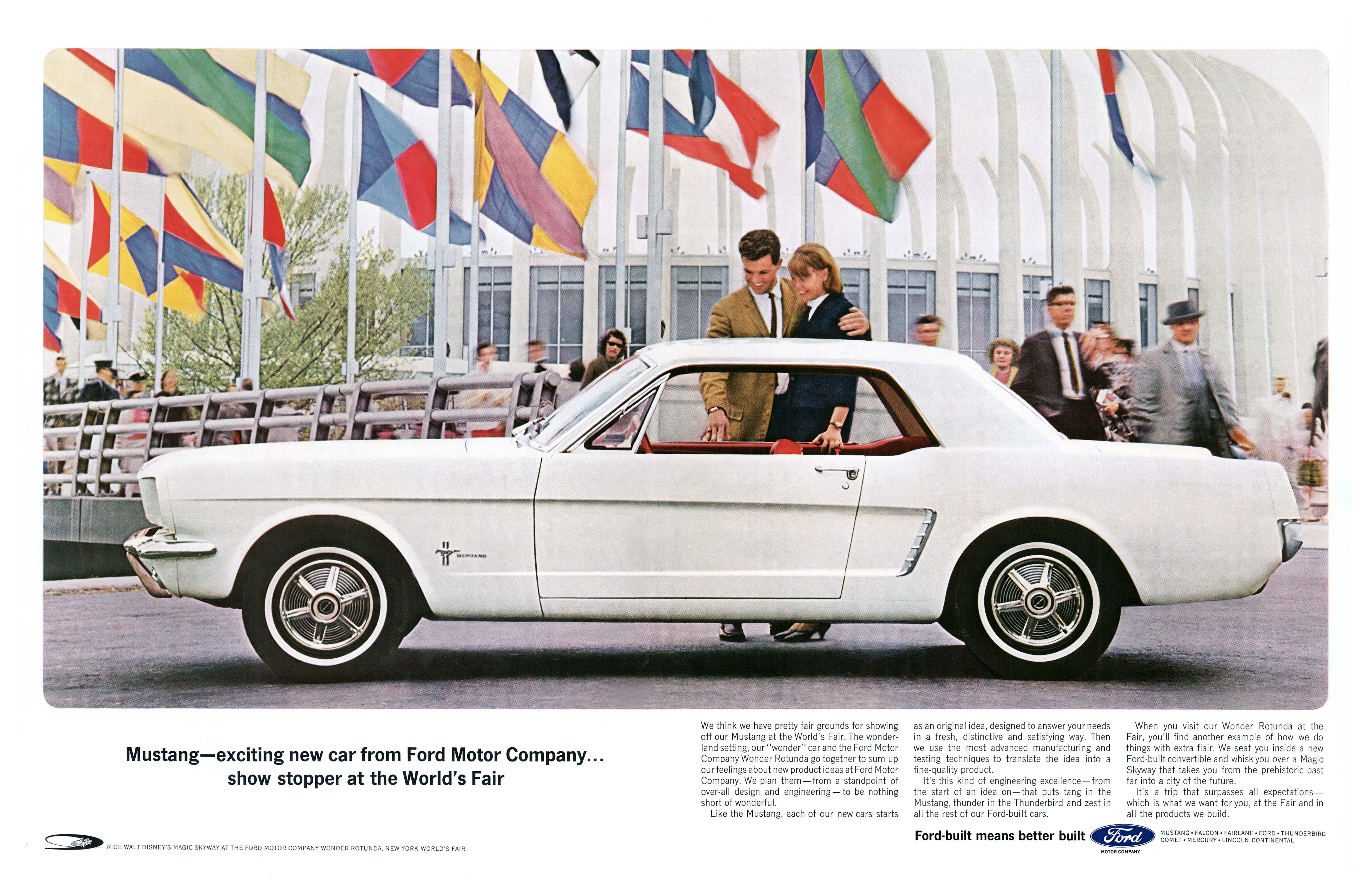 1964 ford mustang worlds fair ny ny 21x13 7 2 page spread