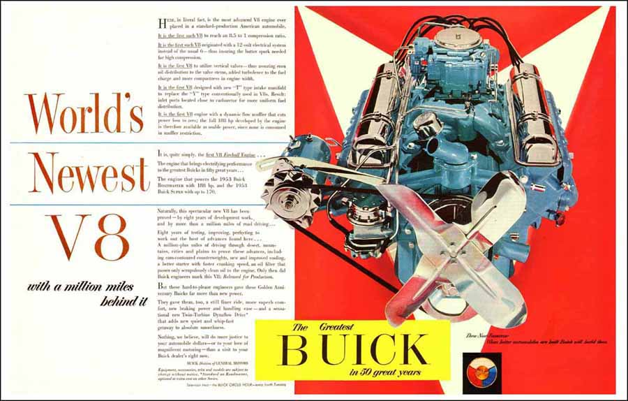 1953 New Buick V8 Announcement