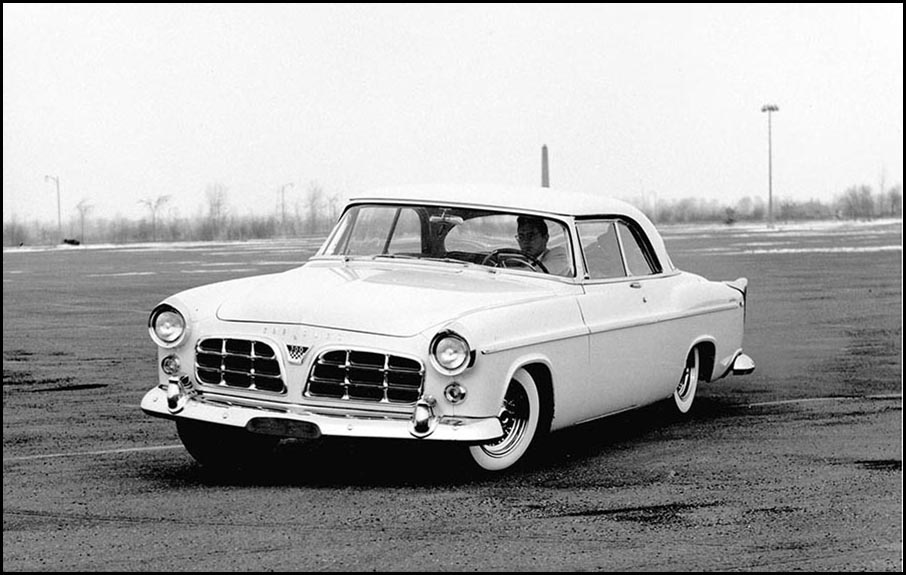 1955 Chrysler 300 in drift