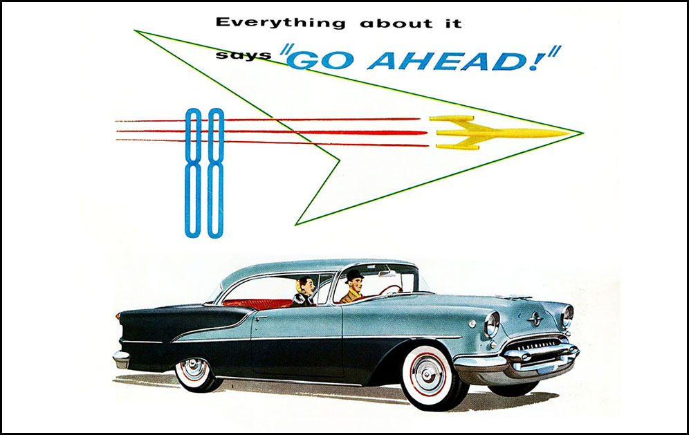 1955 Olds S88 Ads