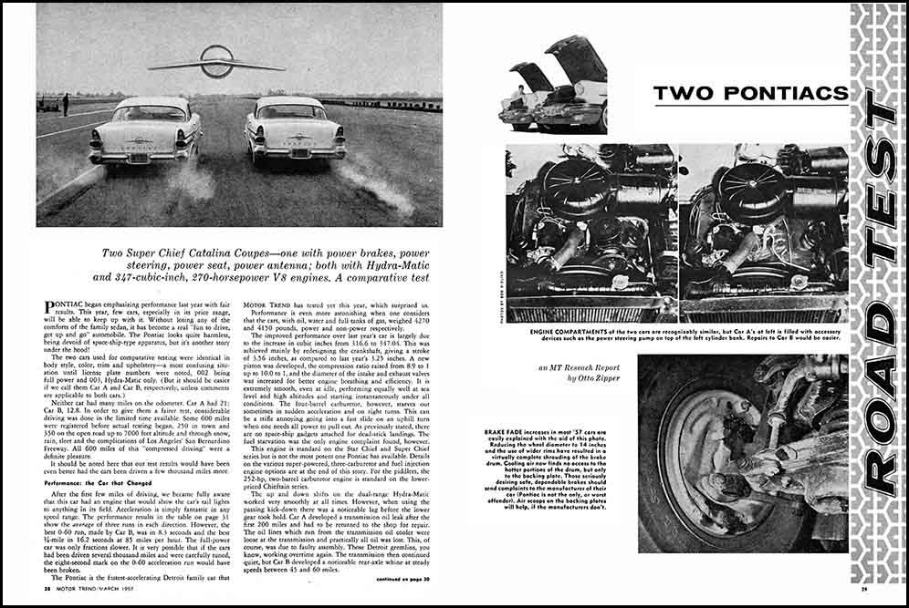 1957 Two Pontiac Test