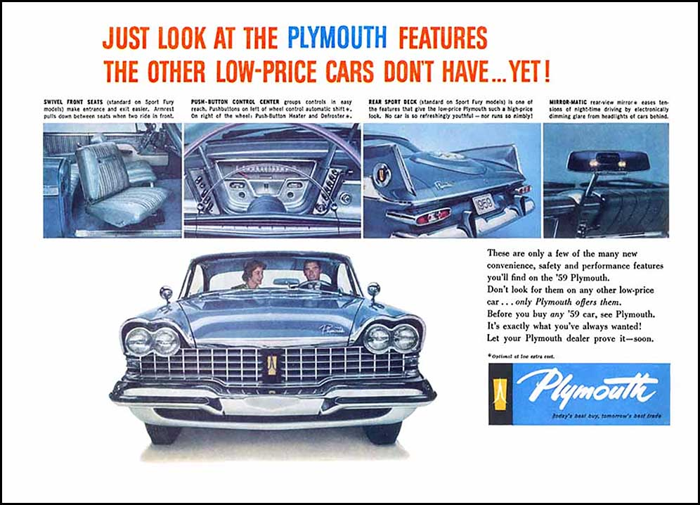 1959 Plymouth Ads