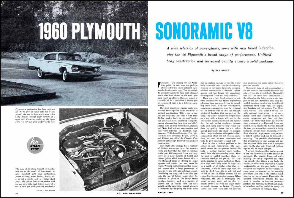 1960 Plymouth Sonoramic Test