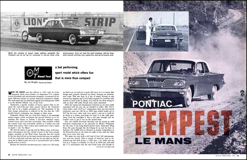 1962 Pontiac LeMans Test