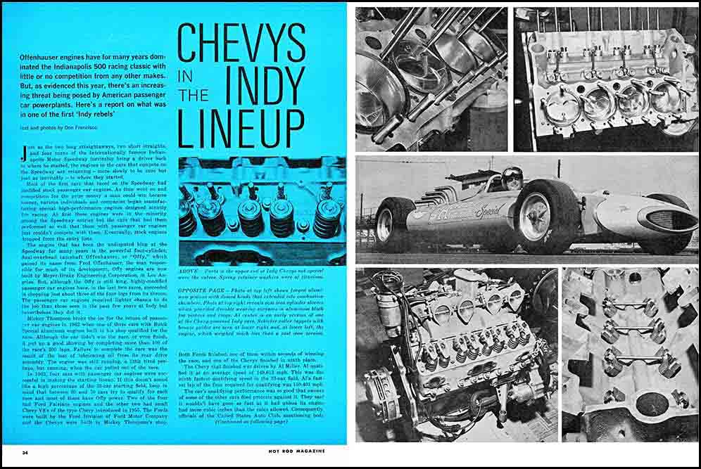1963 Chevy Indy Engines Exposed