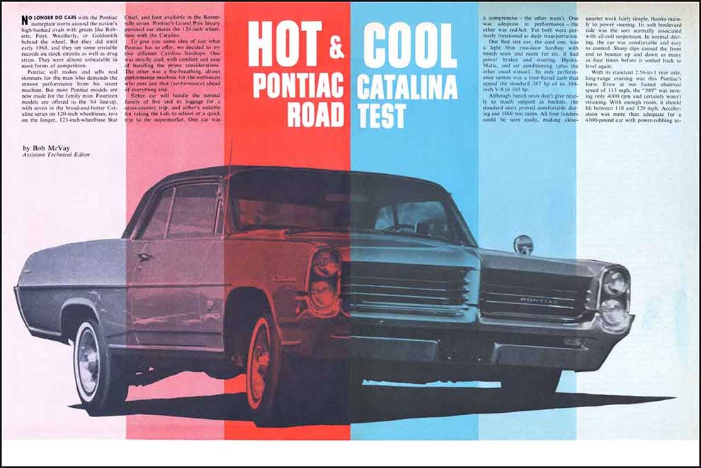 1964 Pontiac Catalina and 2+2 Tests