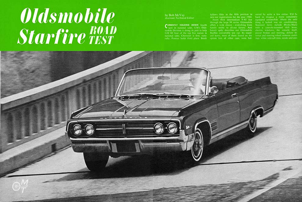 1964 Olds Starfire Convertible Test