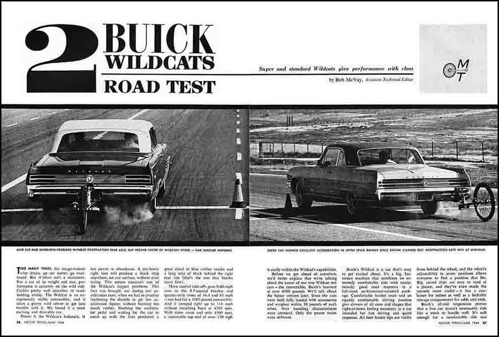 1964 Two Buick Wildcat Test
