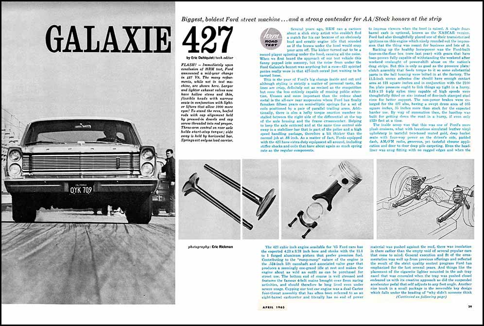 1965 Ford 427 Test
