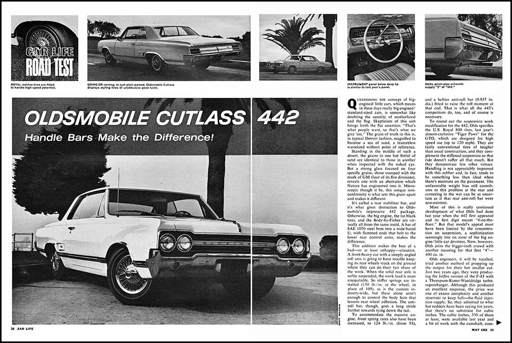 1965 Olds 442 Road Test