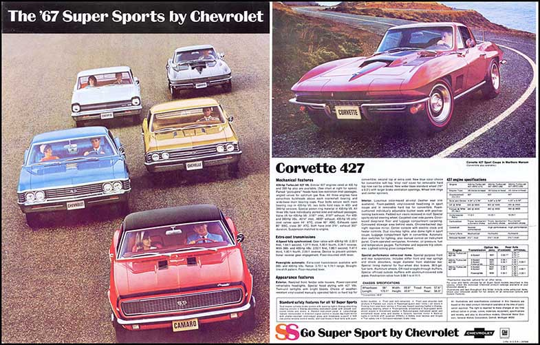 1967 Chevy Super Sports Brochure