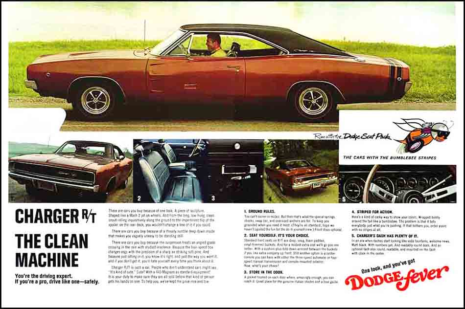 1968 Dodge Charger Ads