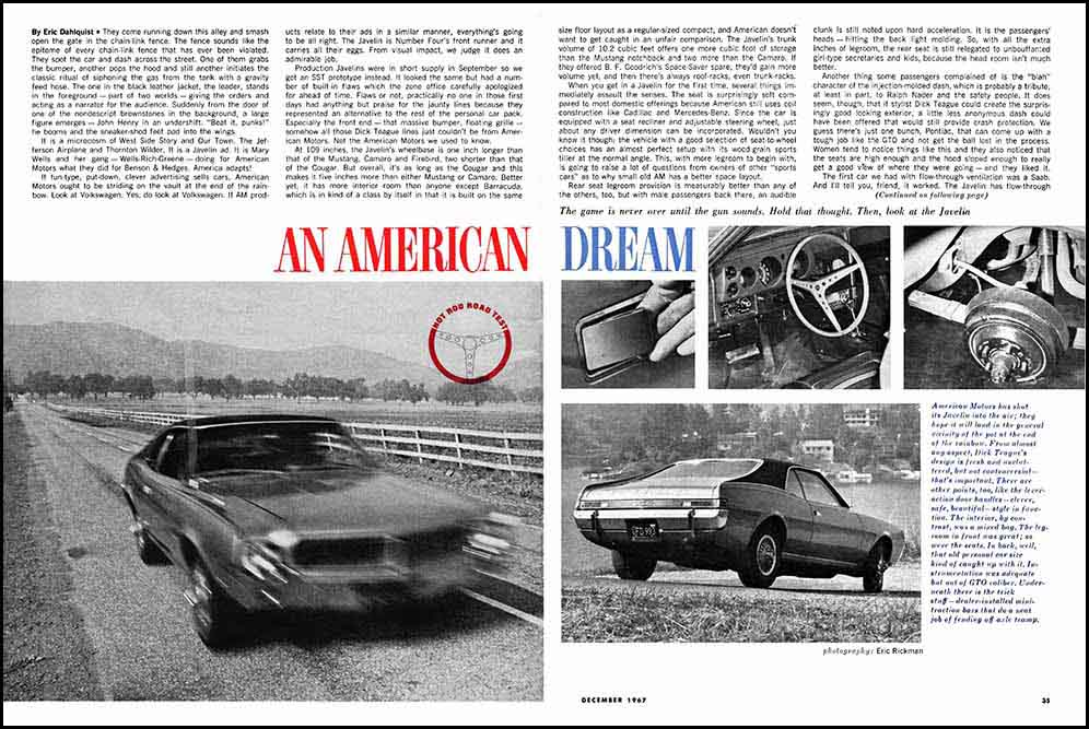 1968 Javelin 343 Test