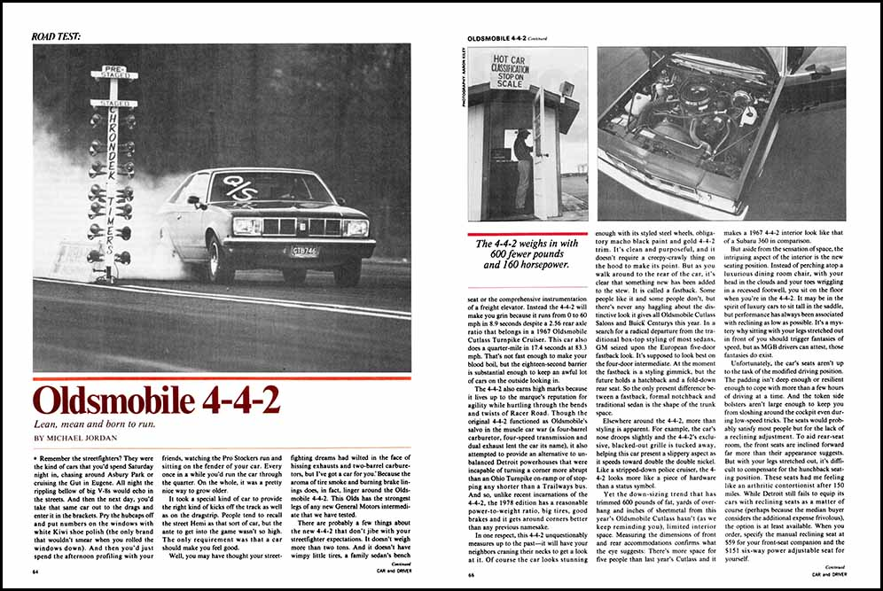 1978 Olds 442 Test
