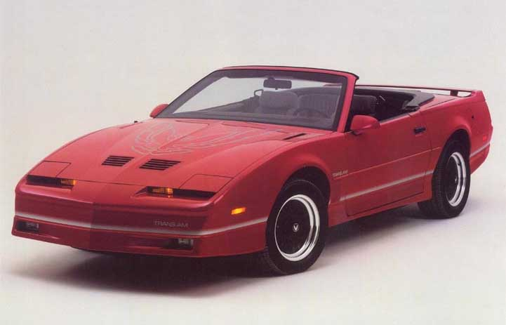 1987 Shelby Mustang Test ASC Firebird Convertible