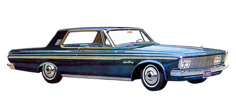 The 1963 Plymouth Sport Fury 2 Door Hardtop Was Clean Slick And Crisp New Styling Turned Plymouths Large Car Fortunes Around With Over 76000 More